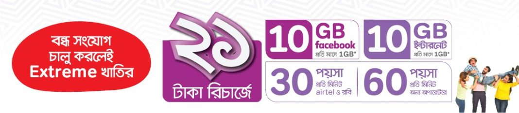 bondho sim 20 gb Internet offer